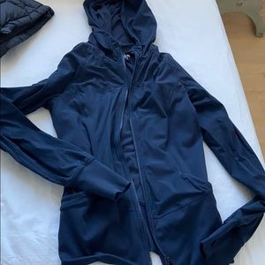 Lululemon in the flux jacket